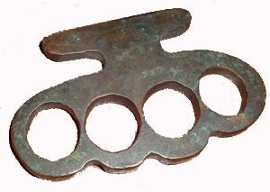 vintage brass knuckles